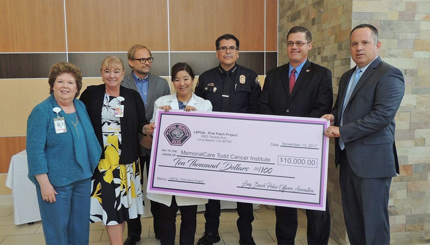 Long Beach Police Department Pink Patch Project Benefits Breast Cancer Patients