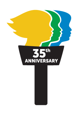 Torch Run 35 Anniversary Logo