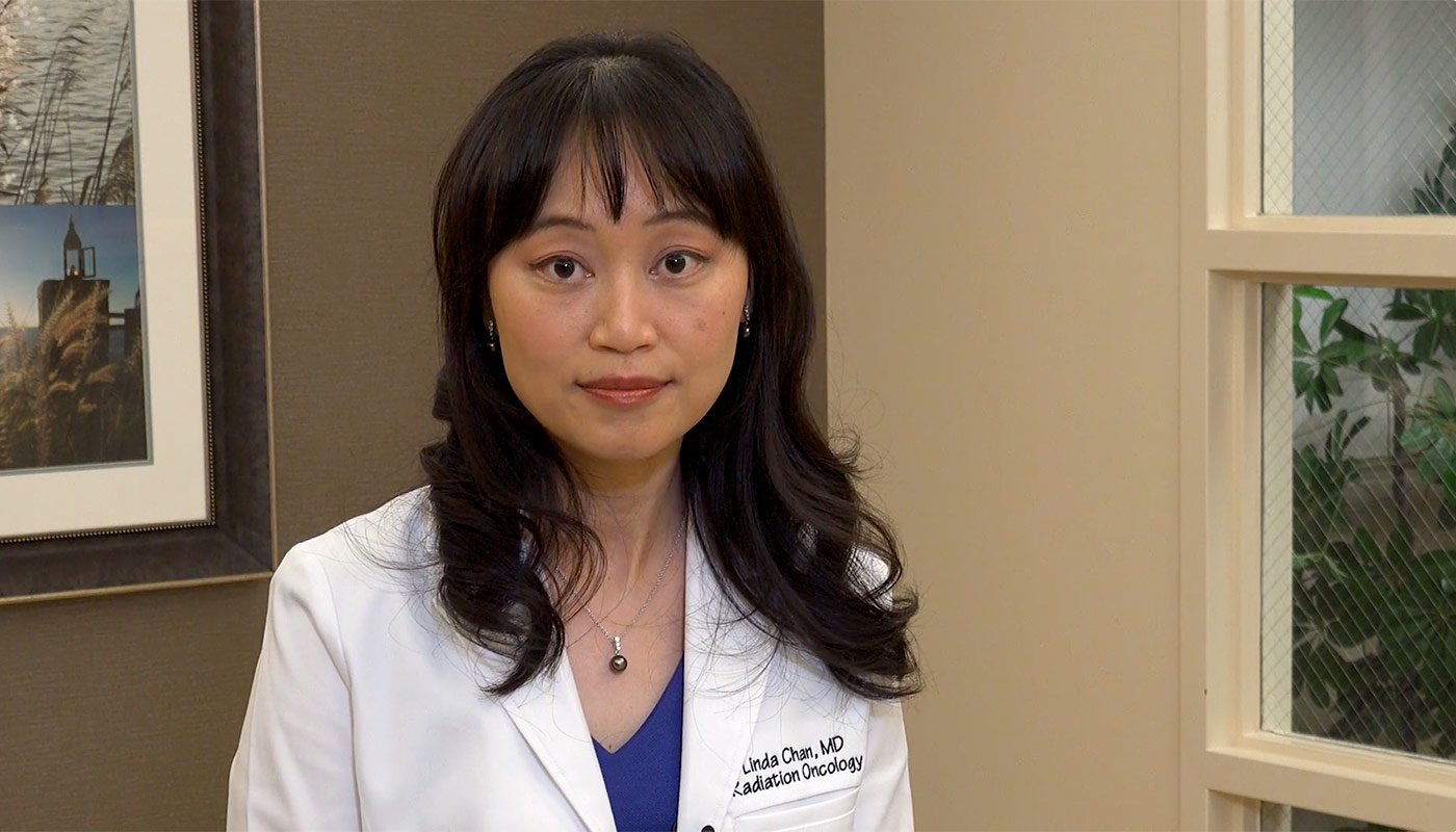 """We utilize something called Deep Inspiration Breath Hold to move her heart out of the way of the radiation beam when she takes a deep breath in.""- Linda Chan, MD, Medical Director, Radiation Oncology at Saddleback Medical Center and Long Beach Medical Center."