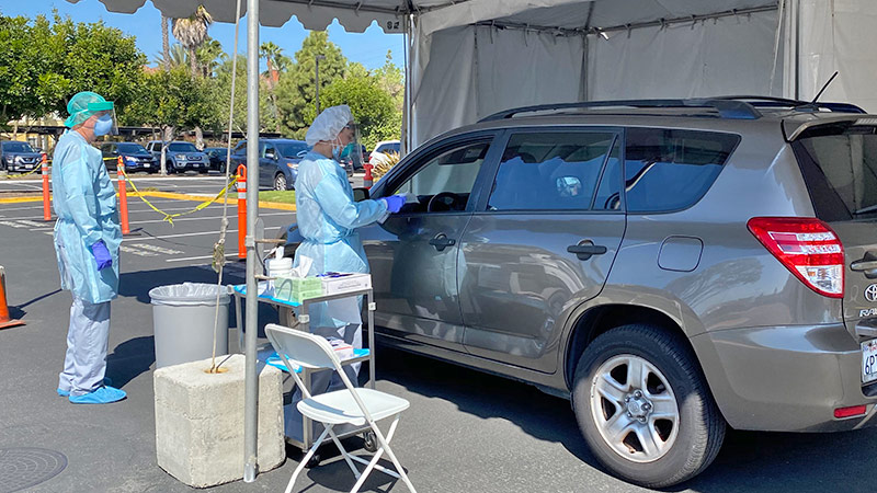 Memorialcare Opens Covid 19 Drive Thru Testing Center To Serve Local Community Memorialcare